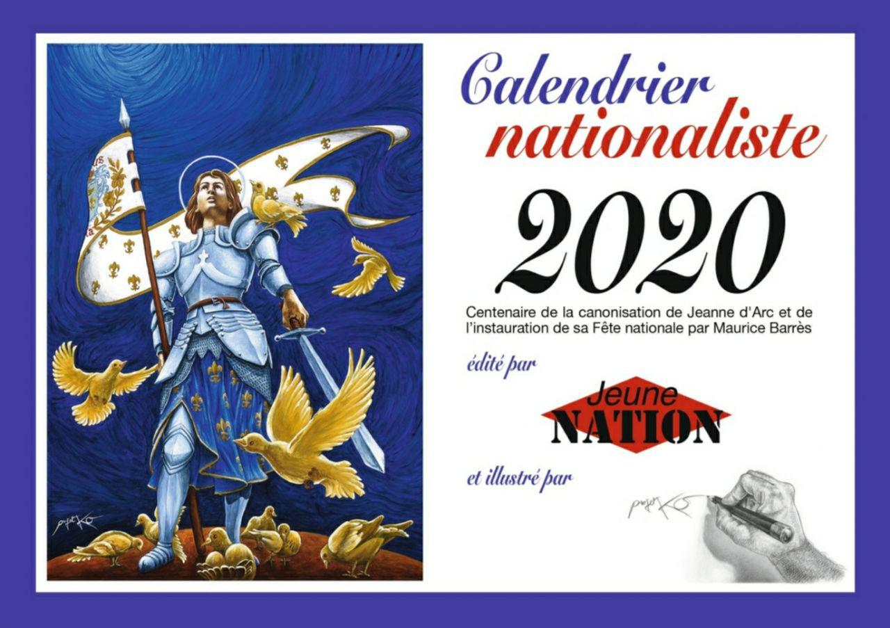 calendrier nationaliste 2020